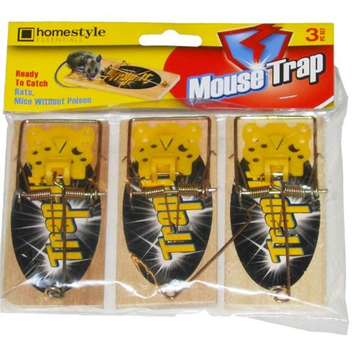 Wholesale Wooden Mouse Traps 3 ct