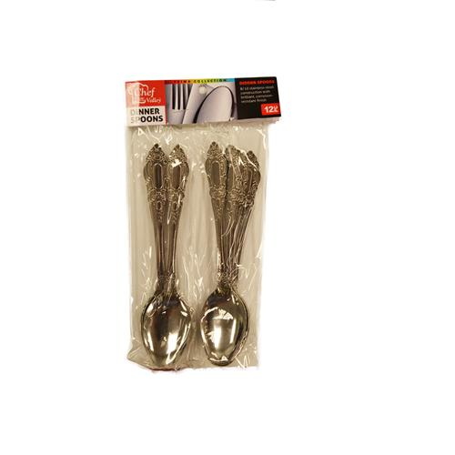 Wholesale 12ct STAINLESS DINNER SPOONS
