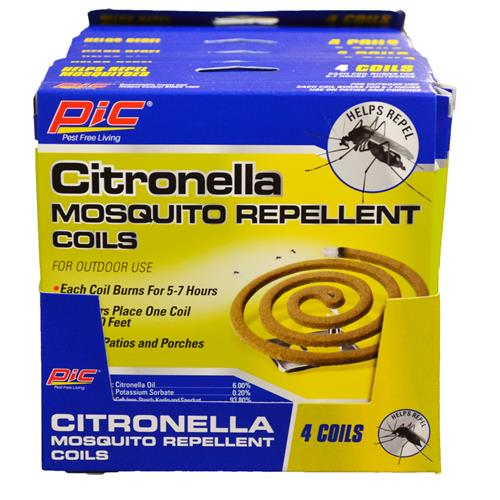 Wholesale 4 ct Citronella Mosquito Repellent Coils