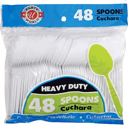 Wholesale Heavy Duty White Plastic Spoons