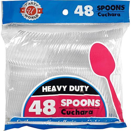 Wholesale Heavy Duty Clear Plastic Spoons