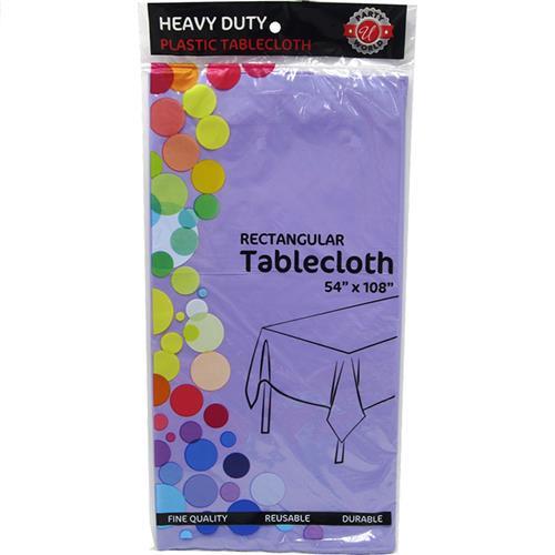 "Wholesale Lavender Plastic Tablecover 54"" x 108"""