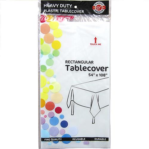 "Wholesale Clear Plastic Tablecover 54"" x 108"""