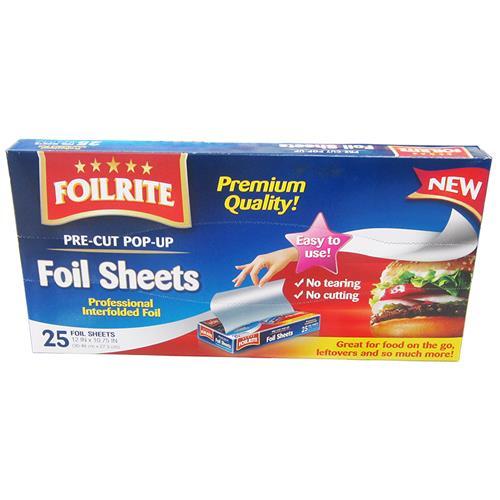 Wholesale 25 CT FOIL SHEETS POP-UP
