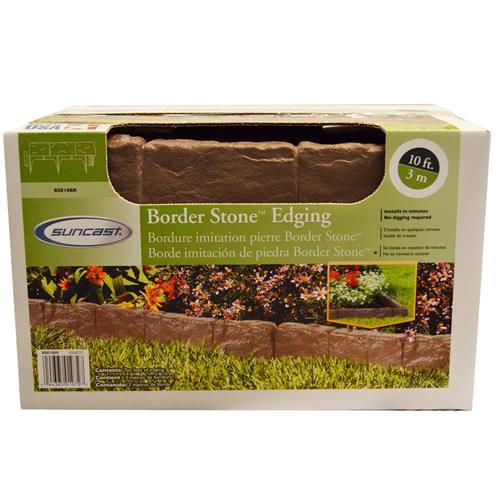 Wholesale 10' BORDERSTONE EDGING BROWN