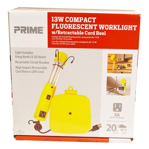 Wholesale 20' 18/3 SVT RETRACTABLE CORD REEL/WORK LIGHT