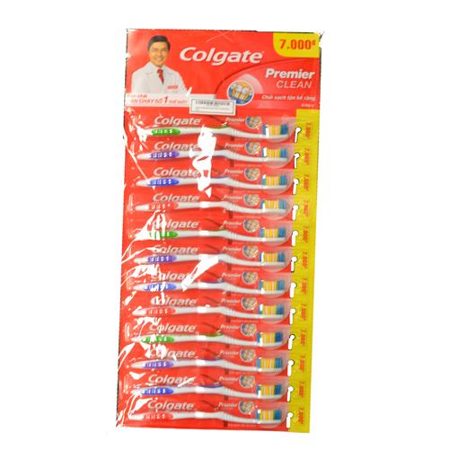 Wholesale 12 indv. - COLGATE Premier Clean Toothbrushs (Carded)