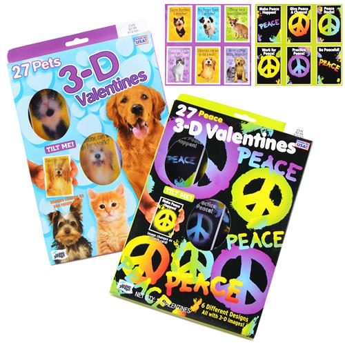Wholesale Valentine Cards 3-D 20 Fun Styles PP $2.99