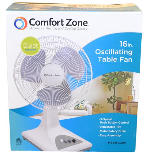 "Wholesale 16"" DESK FAN 3 SPEED WHITE ETL"