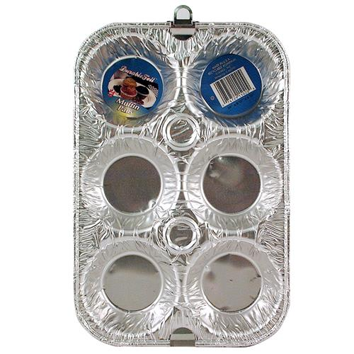 """Wholesale Foil Muffin Pan 2 pack 10 x 6.5 x 1.25"""""""""""""""""""