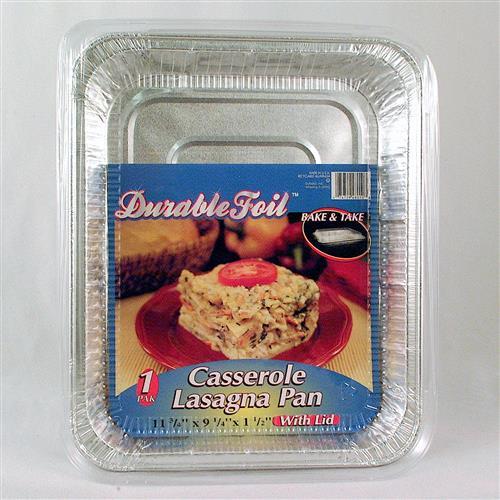 Wholesale Foil Casserole Lasagna Pan with Lid 11.75 x 9.25 x
