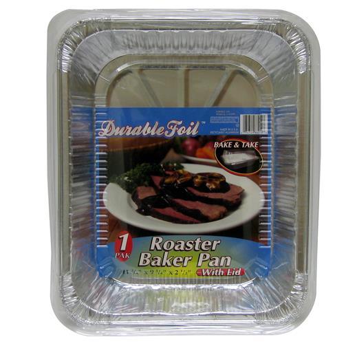 """Wholesale Foil Roast/Bakerpan with Lid 11.75 x 9.25 x 2.5"""""""""""""""""""
