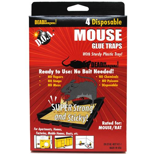 Wholesale D.O.A. Mouse Glue Trays 4 Pack