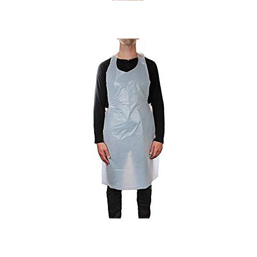 Wholesale Apron, White Pe 28x46, Lite Weight Die Cut