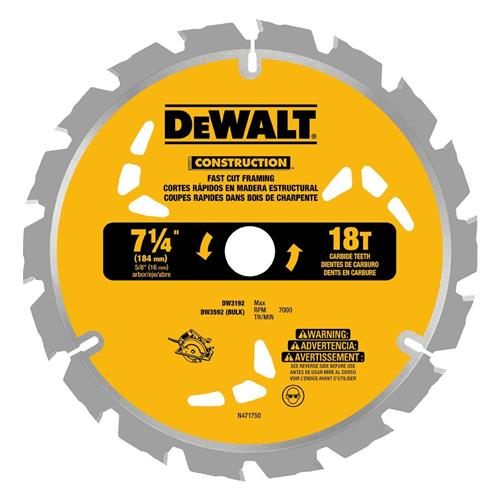 "Wholesale 3PK 7-1/4"" SAW BLADES 18 TOOTH"
