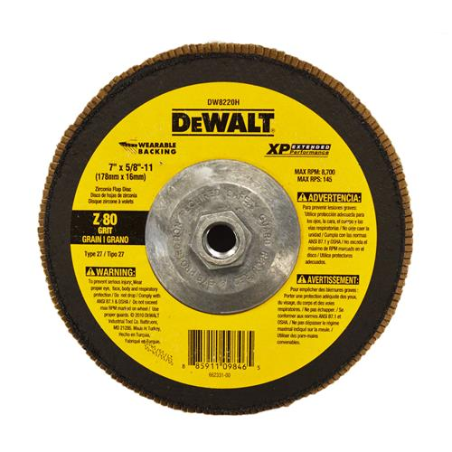 "Wholesale 7"" FLAP WHEEL W/HUB 80 GRIT 5/"