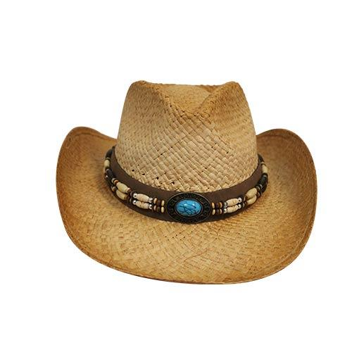 Wholesale STRAW DRIFTER COWBOY HAT BLUE STONE
