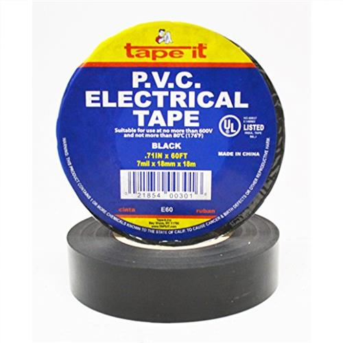 "Wholesale ELECTRIC TAPE 3/4"" x 66YD U/L"