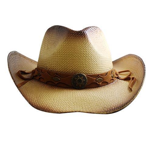 Wholesale STRAW DRIFTER COWBOY HAT GOLD STAR