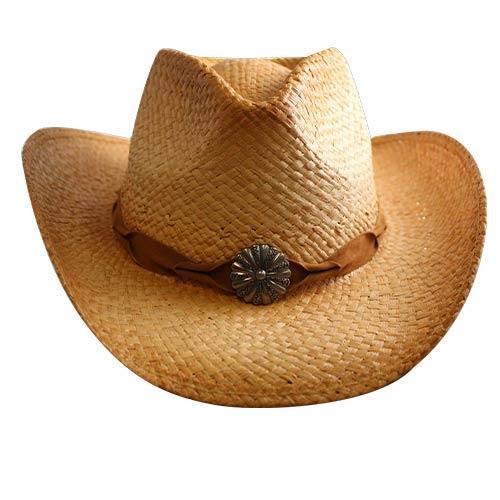 Wholesale STRAW DRIFTER COWBOY HAT SILVER