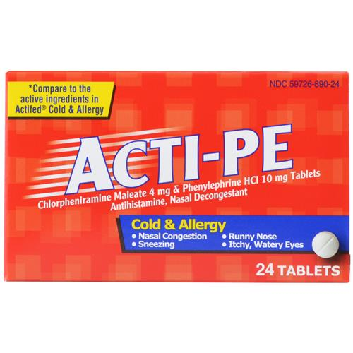 Wholesale PLD Cold-Sinus-Allergy (Actified) Expires 9/14