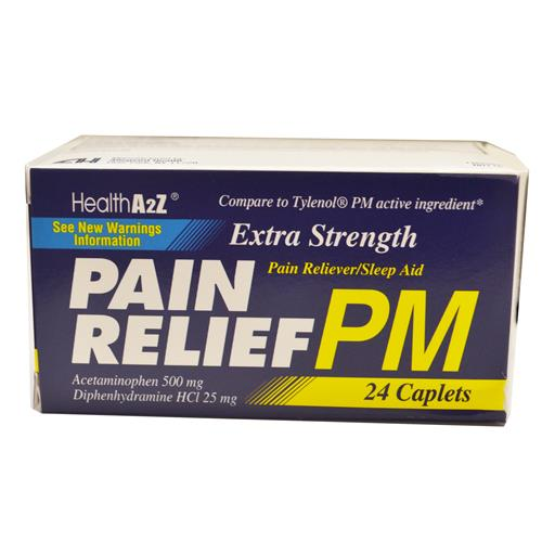 Wholesale A to Z Extra Strength APAP PM 500mg Caplets (Replaces Health Care label)
