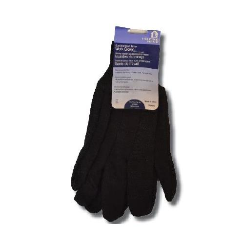 Wholesale BROWN JERSEY GLOVES WITH DOTS & HEADER