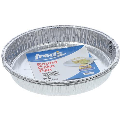 Wholesale 3pk ALUM ROUND CAKE PAN 8.5x1.5''