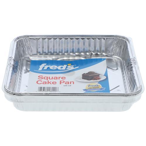 Wholesale 2pk ALUM SQUARE CAKE PAN w/LID