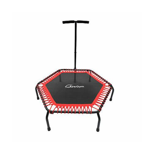 """Wholesale FITNESS TRAMPOLINE WITH HANDLE BAR 48x13"""""""" BLACK & RED"""