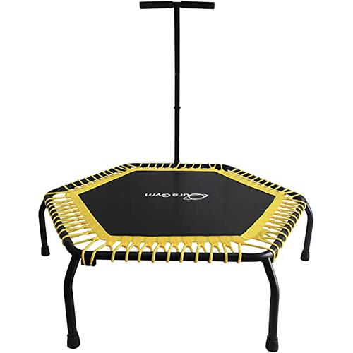 """Wholesale FITNESS TRAMPOLINE WITH HANDLE BAR 48x13"""""""" BLACK & YELLOW"""