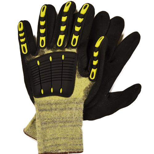 Wholesale Cut Glove, Large Yellow/Green
