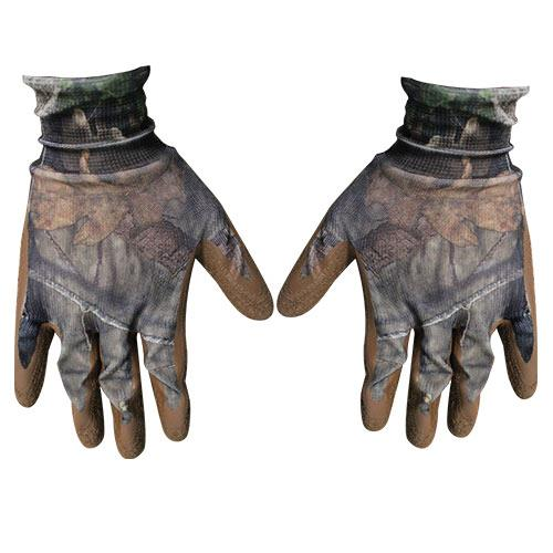 Wholesale LATEX COATED GLOVE MOSSY OAK CAMO ONE SIZE FITS MOST