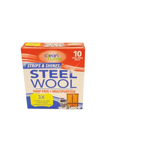 Wholesale 10PK STEEL WOOL -SOAP FREE