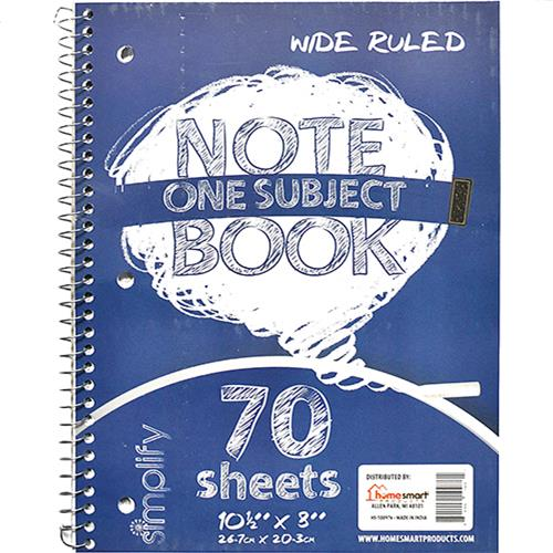 Wholesale NOTEBOOK 1 SUBJECT 70 SHEET WI