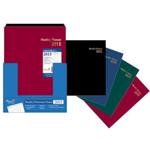 Wholesale 2015 Monthly Professional Planner 4 Assorted in Co