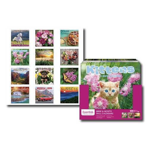 Wholesale 2019 16-MONTH WALL CALENDAR