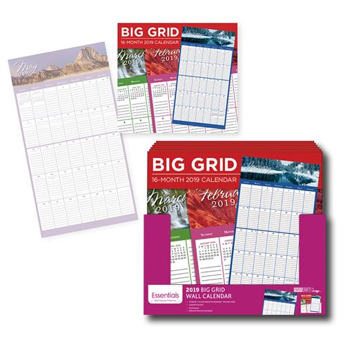 Wholesale 16 MONTH BIG GRID WALL CALENDA