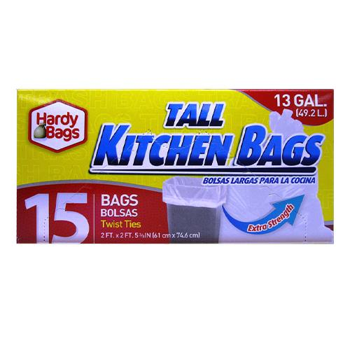 Wholesale 15 COUNT 13 GALLON TALL KITCHEN BAGS 24x29''