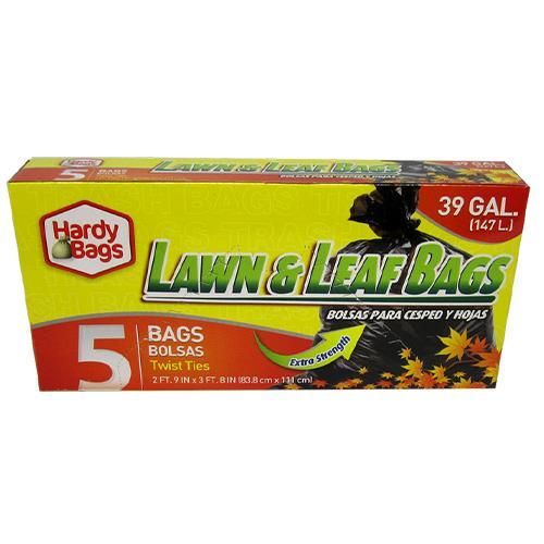 Wholesale 5CT 39GAL LAWN & LEAF TRASH BAGS 33x44''