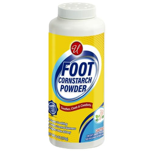 Wholesale 6oz U CORNSTARCH FOOT POWDER