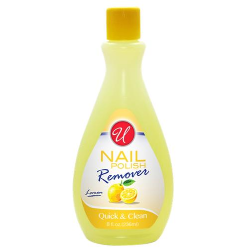 Wholesale U Nail Polish Remover Acetone Lemon 8 oz