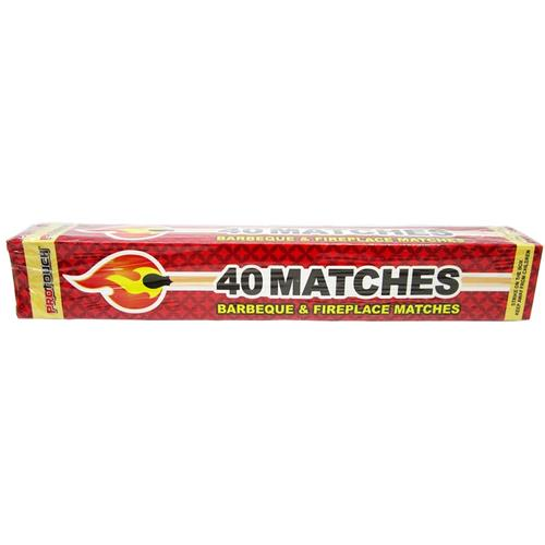 Wholesale 40 COUNT LONG BBQ & FIRE PLACE MATCHES