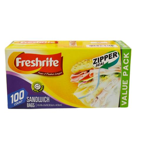Wholesale 100ct SANDWICH BAGS ZIPPER SEAL