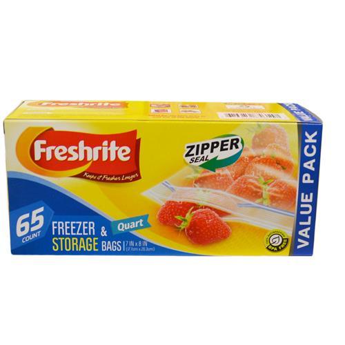 Wholesale 65ct QT FREEZER BAGS ZIPPER SE