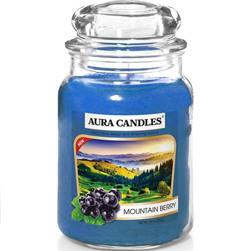Wholesale 18CT Jar Candle Mountain Berry