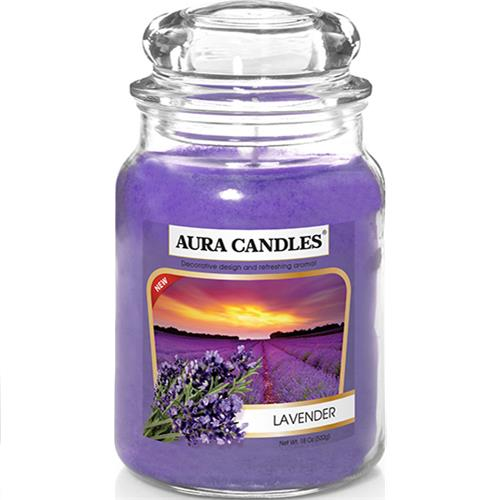 Wholesale 18CT Jar Candle Lavender