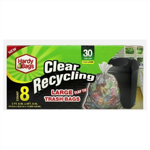 Wholesale 30GAL CLEAR RECYCLING TRASH BA