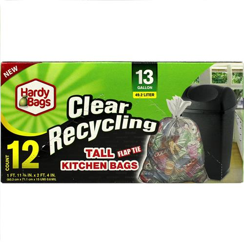 Wholesale 13GAL CLEAR RECYCLING TRASH BA