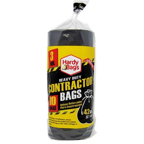 Wholesale 10 COUNT 42 GALLON CONTRACTOR BAGS 3MIL 33x48''